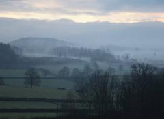 Brouillard Ozolles 71120 Levé du jour