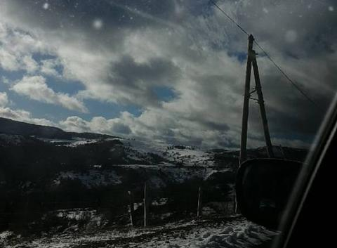 Direction la station de ski