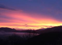 Ciel Serres-sur-Arget 09000 Lever du jour sur Foix