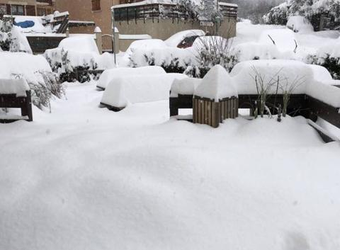 Tempête de neige hautes alpes
