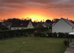 Ciel Saint-Avertin 37550 Levé de soleil sur le dernier jour de 2017