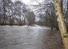 Pluie Polminhac 15800 Montée inquiètante de la Cère.