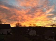 Ciel Domevre-sur-Aviere 88390 Coucher de soleil
