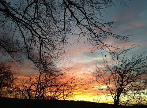 Dernier coucher de soleil 2017. Danielle JEANNOT