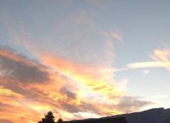 Ciel Aix-les-Bains 73100 Coucher de soleil en hiver