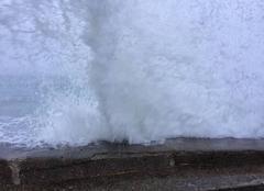 Mer Camaret-sur-Mer 29570 Tombée d'embruns lors de la pleine mer à Camaret