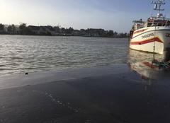 Tempête Trouville-sur-Mer 14360 La Touques déborde à Trouville !