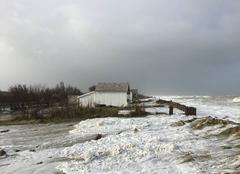 Tempête Ver-sur-Mer 14114 Submersion sur la côte normande