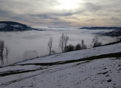 Brouillard La Bresse 88250 Magie hivernale de Novembre