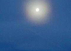 Insolite Luceram 06440 Un beau disque  autour de la lune ce matin