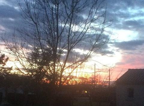 Coucher de soleil en Janvier