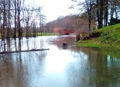 Pluie Gorron 53120 Au Parc de Loisirs la Colmont débordée