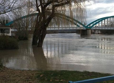 Inondation sur la commune de Loyettes