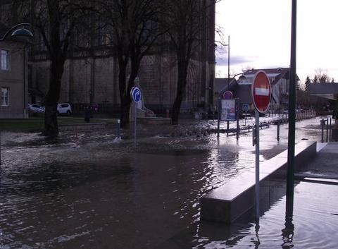 Innondation dans le haut doubs