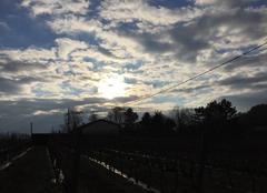 Nuages Chanos-Curson 26600 Soleil matinal dans un ciel cotonneux