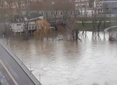 Catastrophe Metz 57000 Moselle en crue