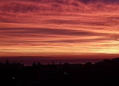 Ciel Antibes 06600 Levée du soleil sur Antibes