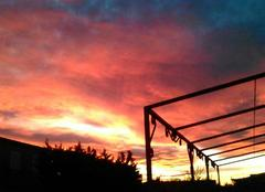 Nuages Istres 13800 Couché de soleil à ISTRES