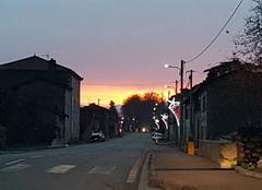 Ciel Martres-Tolosane 31220 Couché de soleil
