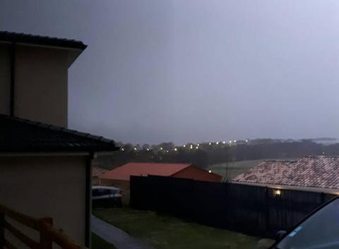 Orages er pluies diluviennes sur Villefranche de lauragais