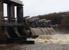 Pluie Millac 86150 Crue de la vienne barrage de jousseau