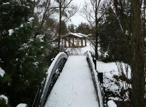 La neige sur le Pont