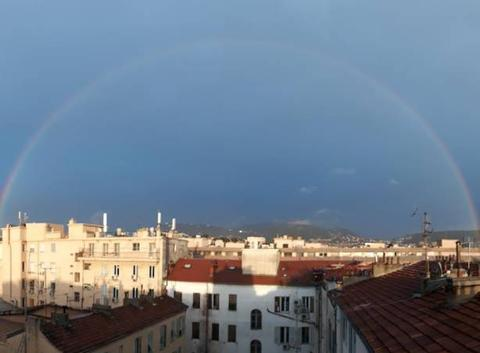 Arc en ciel sur Nice