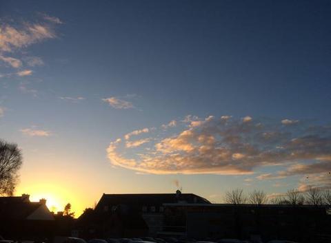 Lever de soleil ce matin à Plouha