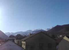 Ciel Bagneres-de-Bigorre 65200 Vendredi 12 janvier 2018 pas un nuage sur Bagnères de Bigorre contrairement aux annonces MTO