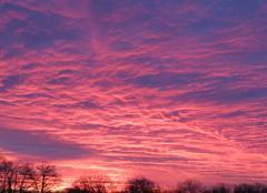 Ciel La Verrie 85130 Soleil levant en Vendée