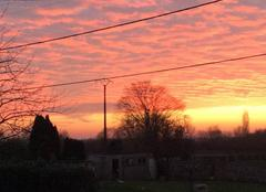 Ciel Pont-sur-Sambre 59138 Magnifique couleur orange
