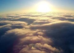 Ciel Ticheville 61120 Au dessus du brouillard