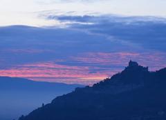 Ciel Saint-Peray 07130 Lever de soleil sur Crussol