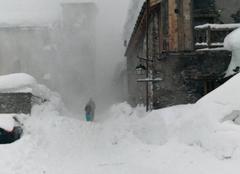 Tempête Bonneval-sur-Arc 73480 Canon avalanche