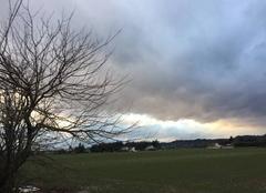 Ciel Romans-sur-Isere 26100 Fine pluie sous un ciel menaçant