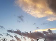 Ciel Tassin-la-Demi-Lune 69160 Coucher de soleil hivernal.