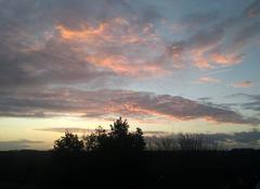Ciel La Trinite-Porhoet 56490 Coucher de soleil