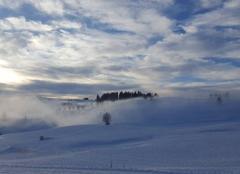 Neige Bogeve 74250 Brouillard