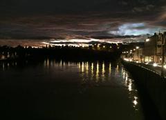 Ciel Romans-sur-Isere 26100 Ciel d'encre ce soir sur les quais