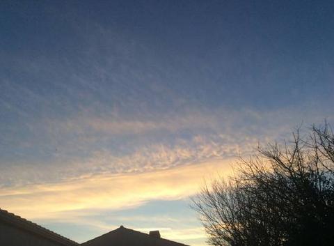 Ciel de décembre à Longeville sur mer de Mary