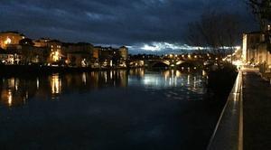 Nuages Romans-sur-Isere 26100 La pluie sur les quais ce soir