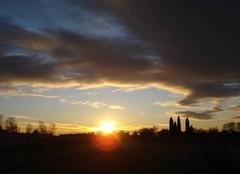 Ciel Gallargues-le-Montueux 30660 Levé  du soleil