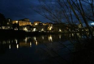 Pluie Romans-sur-Isere 26100 Quais sous la pluie hier soir