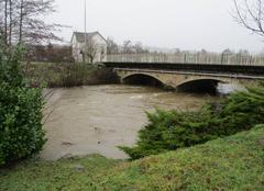 Pluie Maurs 15600 La Rance en crue