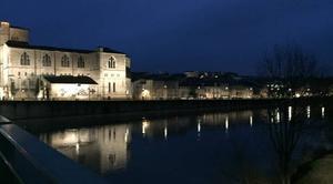 Pluie Romans-sur-Isere 26100 Bruine au crépuscule