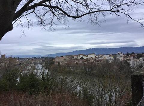 Gros et maussade sur l'Isère