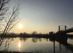 Ciel Triel-sur-Seine 78510 Crépuscule hivernal