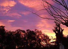 Ciel Antibes 06600 Levé du soleil sur Antibes ... 7h30
