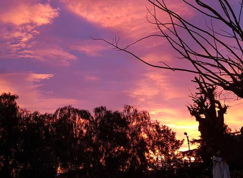 Levé du soleil sur Antibes ... 7h30