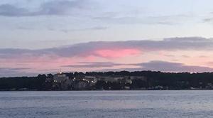 Ciel Cannes 06400 Coucher du soleil sur les îles